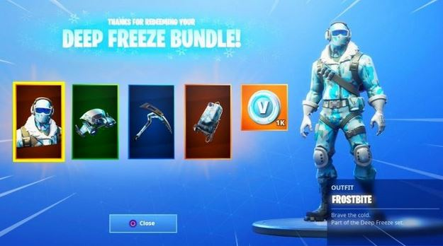 دیپ فریز باندل فورتنایت deep freeze bundle